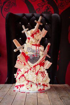 Choccywoccydodah Game of Thrones Red Wedding Cake photographed by Hewdesign