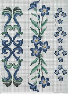 perfect for bath towels by Mudgey Cross Stitch Boarders, Cross Stitch Bookmarks, Beaded Cross Stitch, Cross Stitch Flowers, Cross Stitch Designs, Cross Stitching, Cross Stitch Embroidery, Embroidery Patterns, Cross Stitch Patterns
