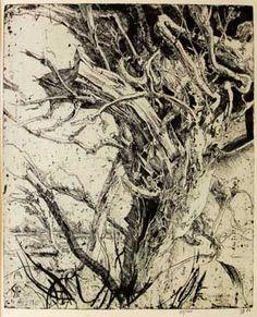 etching by Horst Janssen 1929 - 1995 German printmaker
