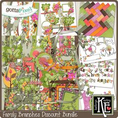 Designer Spotlight & Daily Download 7/22/16 - Gotta Pixel :: Family Branches Discount Bundle by Kathryn Estry