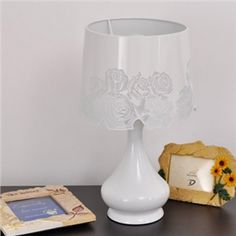"""Beautiful White Finished Designer Floor Lamp in 19.6""""High"""