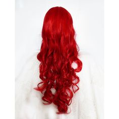 Long Red Curly Wig, Red Cosplay Wig, Bright Red Wavy Wig, Anime... ($45) ❤ liked on Polyvore featuring beauty products, haircare, hair styling tools and curly hair care