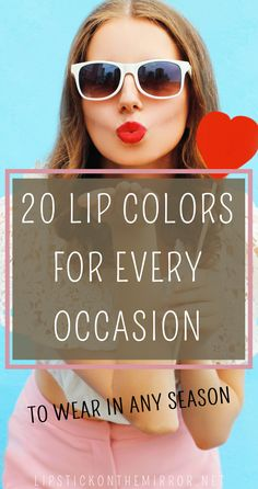 Lipsticks can completely change your attitude, your whole look, your walk, and your entire vibe when you have that lipstick color that looks perfect on your lips and is the total definition of You! Here are 20 Different lip colors to choose from that are perfect for every season and for every occasion.  #lipcolors #lips #lipsticks