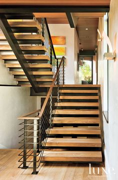 Like this stairs to 2nd floor from entrance.