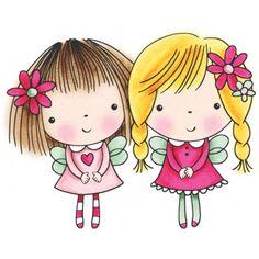 "Mimi & Friends Penny Black Rubber Stamp 2.75""X3.5 4085J"