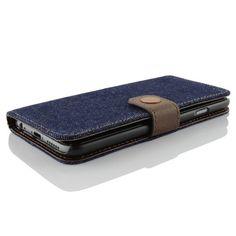 Apple iPhone 6 Handyhülle von Original Urcover® in der Jeans Style Galaxy S6 Schutzhülle Case Cover Etui Dunkel Blau 14,90€