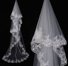 Charming Elegant Cathedral Wedding Bridal Veils Chic Lace by VEIL8, $19.00