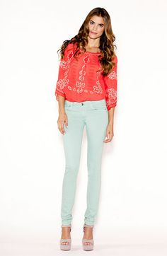Totally in love with these mint jeans. They miiiight be joining my closet soon.