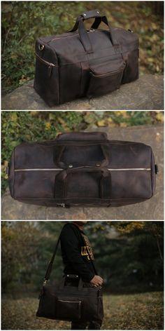 Genuine Leather Travel Bag / Duffle Bag