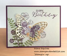 Stampin' UP! Butterfly Basics Stamp Set and Dies Bundle. Get ready for spring and summer crafting with these beautiful and intricate butterflies - http://stampandembellish.com/2015/03/9712/