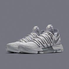 Hotsale Nike KD 10 White Blue Mens Basketball Shoes #basketballshoes