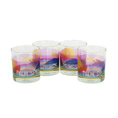 Rocks Glasses Palm Springs Set of 4 - Sisters of Los Angeles