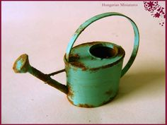 Old watering can by hungarianminiatures on Etsy, $18.00
