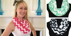 Chevron Infinity Scarves-Perfect Gifts-Blowout Sale $5.95 85% OFF SALE