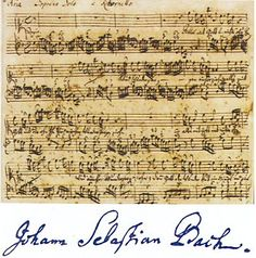One of J.S. Bach's manuscripts. One man's compositions defined generations the rules followed by generations of musicians.