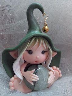Elfo in Fimo di Luce Di Maggio per Nuvole di Panna. Polymer Art: