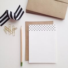 This cute set will come with 24 flat cards and 24 brown envelopes. The paper is a sturdy, yet softly textured cardstock. Measures x Let's bring back the lost art of writing letters to our friends and loved ones! Polka Dot Letters, Polka Dots, Stationary Branding, Stationery, Letter Writer, Paper Design, Stripes, Lettering, Writing
