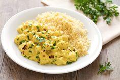 Pollo al latte di cocco e curry con cous cous