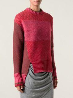 Prabal Gurung textured knit colour block sweater: