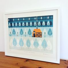 Hansel and Gretel screenprint by KatyPotatyCo on Etsy https://www.etsy.com/uk/listing/479557262/hansel-and-gretel-screenprint