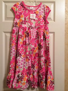 *NWT HANNA ANDERSSON* Girls Sleeveless Floral Cotton Dress Size 140 9-10-11 #HannaAndersson #DressyEveryday