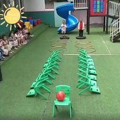Games For Kids Classroom, Physical Activities For Kids, Preschool Learning Activities, Indoor Activities For Kids, Preschool Activities, Crafts For Kids, Family Party Games, Kids Party Games, Exercise For Kids