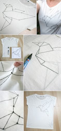 Shirt mit Origami