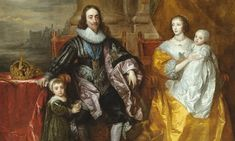 Sir Anthony van Dyck, Charles I and Henrietta Maria with their two eldest children, Prince Charles and Princess Mary (detail) Anthony Van Dyck, Sir Anthony, National Gallery Of Art, National Portrait Gallery, Museum Of Fine Arts, Art Museum, Henrietta Maria, Artemisia Gentileschi, The Other Boleyn Girl