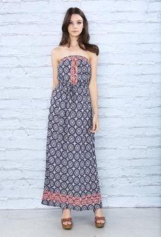 Embroidered Baroque Print Maxi    Shop Dresses at Papaya Clothing