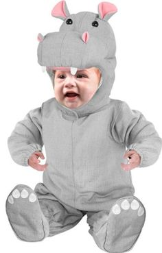Infant Baby Hippo Costume (Size: Our baby Hippopotamus outfit is the most adorable unique infant Halloween costume. This cute hippopotamus costume is great for your babies first Halloween. Best Baby Costumes, Toddler Costumes, Costumes 2015, Hippo Costume, Baby Hippopotamus, Baby First Halloween, Infant Halloween, Clever Halloween Costumes, Halloween Ideas