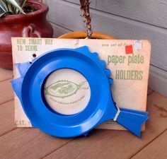 FREE SHIPPING-Vintage Set of 4 Blue Fish Shaped by ellansrelics02