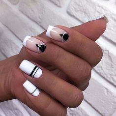On average, the finger nails grow from 3 to millimeters per month. If it is difficult to change their growth rate, however, it is possible to cheat on their appearance and length through false nails. Pink Nails, My Nails, Hair And Nails, Fall Nails, Stylish Nails, Trendy Nails, Short Square Nails, Short Nails, Manicure E Pedicure