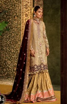 Noor By Saadia Asad Embroidered Wedding Festive 2019 - - Buy Original Pakistani Suits Online Eid Dresses, Pakistani Dresses, Bridal Dresses, Pakistani Couture, Formal Dresses, Saris, Cute Girl Outfits, Cool Outfits, Simple Lehenga