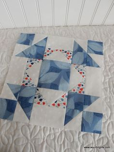 """A Quilting Life Mystery Block of the Month 2017: March block. Free block patterns in 12"""" and 6"""" sizes."""