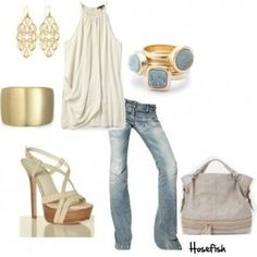 Go for gold to add some glamour to your outfit