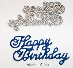 Carbon Steel Paper Cutting Die - Happy Birthday Sentiment by PNWCrafts on Etsy