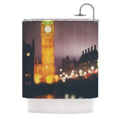 Westminster at Night by Laura Evans Shower Curtain