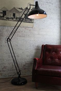 Large Metal Floor Lamp. Perfect for your office lounge area or waiting room!