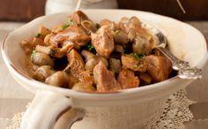 Μοσχάρι με μανιτάρια Στο τηγάνι, με κόκκινη σάλτσα τομάτας!