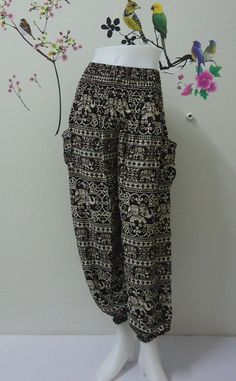 Brown elephants genie harem pant really awesome Etsy listing at https://www.etsy.com/listing/195250100/brown-elephants-genie-harem-pant-ali