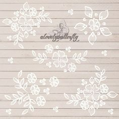 Wedding clipart, rustic clipart, shabby chic wedding, lace clipart, flower, lace flower clipart, INSTANT DOWNLOAD
