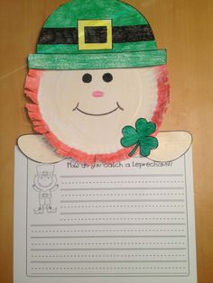 """""""How do you catch a Leprechaun?"""" Page topper and writing activity!"""