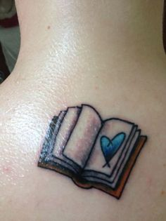 Book tattoo (black and white)