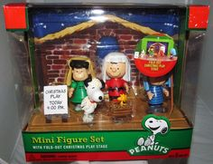 Peanuts Charlie Brown Figurine Figure Lot Nativity Christmas Tree Home Decor   #Peanuts