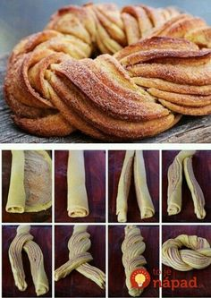 Homestead Survival: Braided Cinnamon Wreath Recipe and Method I'd only try it with my mom's cinnamon roll recipe! Braided Cinnamon Wreath Recipe and Technique, Nice For Christmas Morning - Thehomesteadsurvival Braided Cinnamon Wreath Recipe - gonna make t Cinnamon Wreath Recipe, Breakfast Recipes, Dessert Recipes, Breakfast Ideas, Breakfast Casserole, Breakfast Bake, Breakfast Croissant, Health Breakfast, Breakfast Muffins