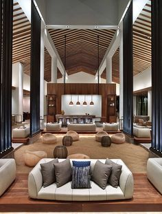 Situated in Wailea-Makena, Hawaii, United States, Andaz Maui resort interior was designed by New York-based Rockwell Group.