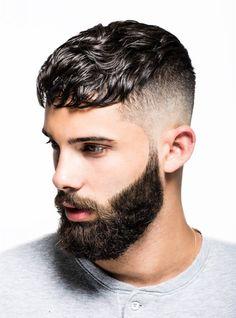 Hairstyles for men - men's Hairstyles - Fade hairstyle - beard styles Mens Hairstyles Fade, Hairstyles Haircuts, Haircuts For Men, Simple Hairstyles, Korean Hairstyles, Fringe Hairstyles, Haircut For Thick Hair, Short Wavy Hair, Wavy Bangs