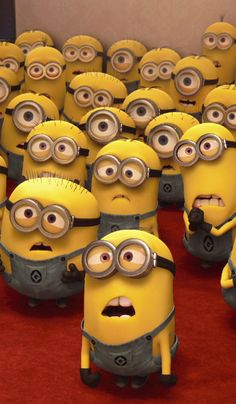 Minions. I love all of their individual facial expressions! Heheheeee