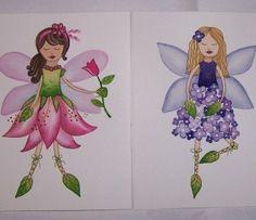 girls wall art Fairy Pixie Daisy Angel flower nursery by terezief, $16.00