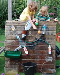 Water Wall: 25 DIY Summer Activities For Kids | Felicity Huffman's What The Flicka? #ideas #crafts #games